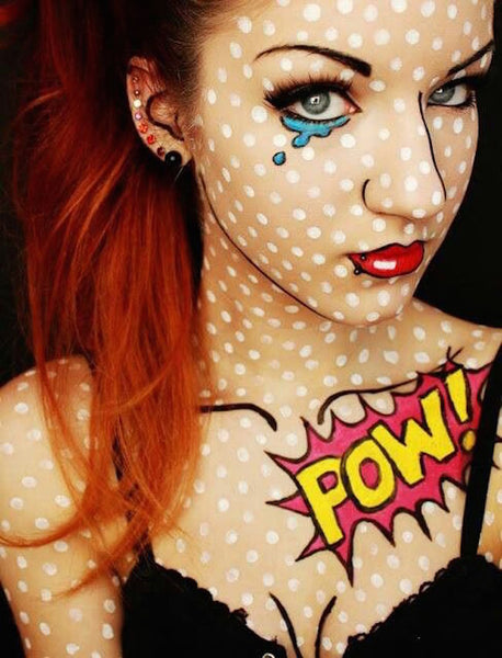 Comic Book Girl-Halloween Makeup Idea