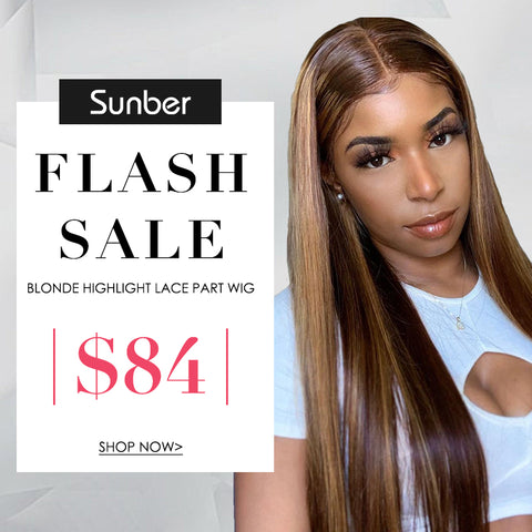 Flash Sale for Hand Tied Lace Closure Part Wig Blonde Highlight Piano Straight Hair Wigs