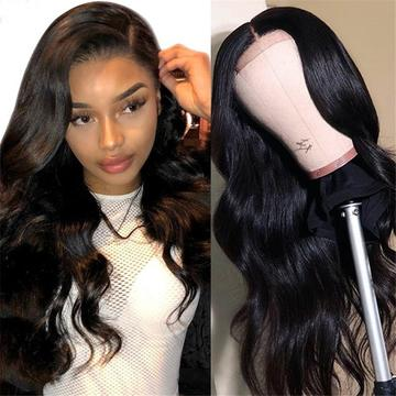 transparent lace wig body wave hair