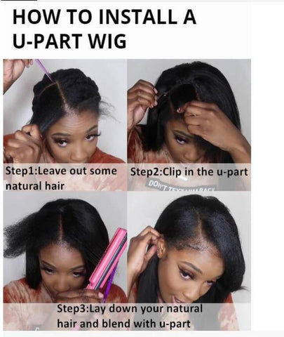 steps to install u part wig