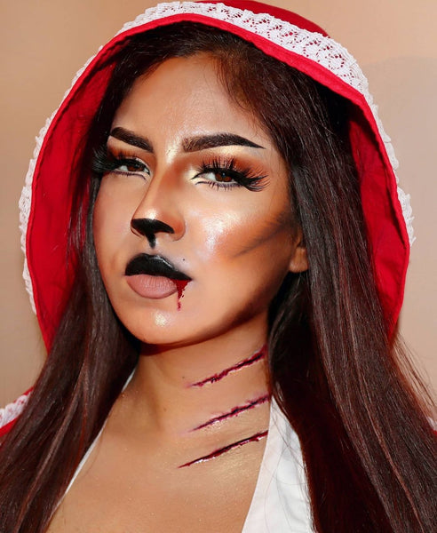 The Red Riding Hood-Halloween Makeup Idea