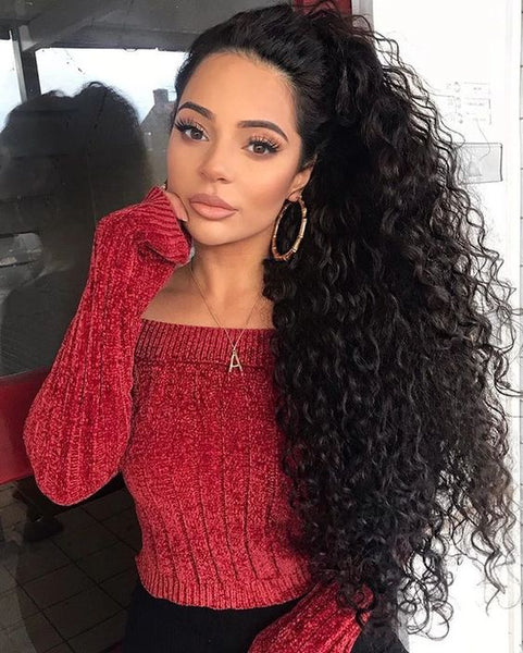 13*4 curly lace front wig
