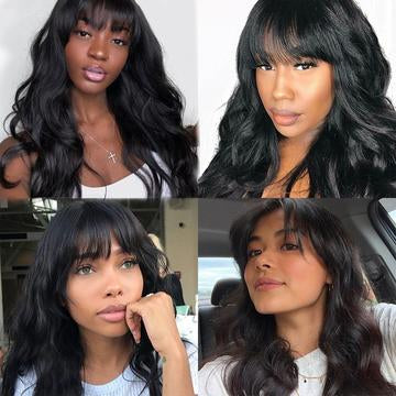 body wave machine made hair wig