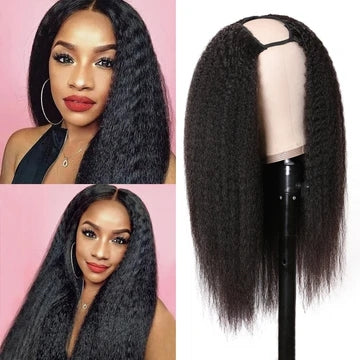 kinky hair u part wig