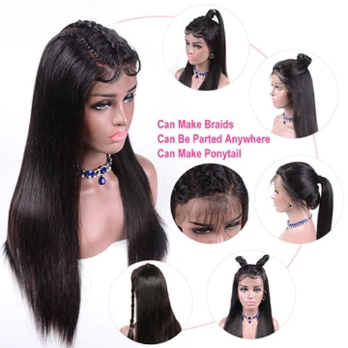 straight hair HD lace wig
