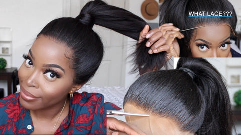 ponytail hairstyle with lace frontal
