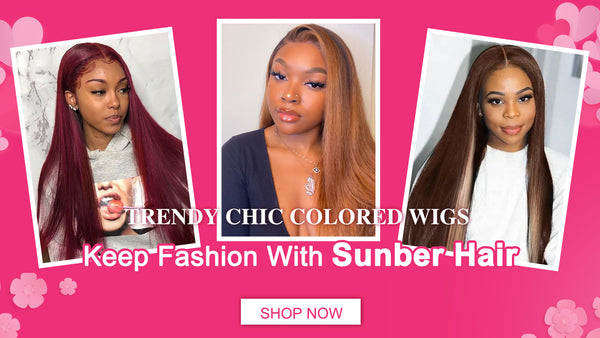 trendy colored wig