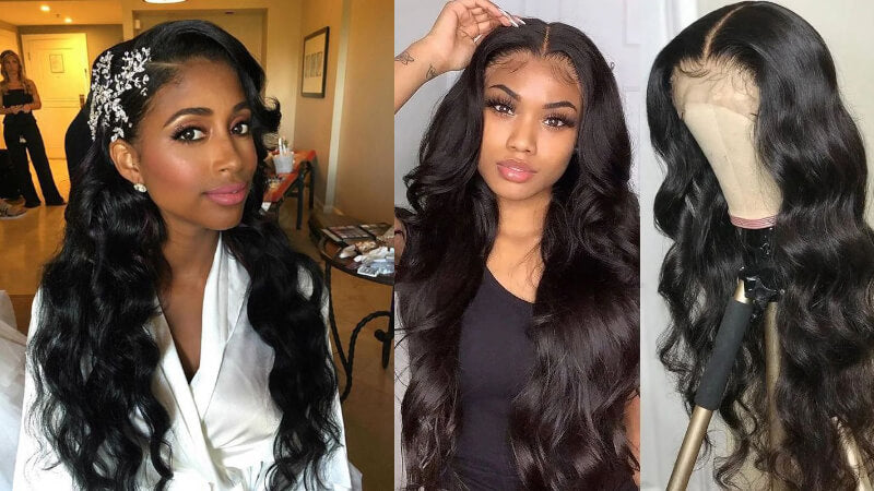 Pre-plucked Transparent Lace Front Wigs With Baby Hair Body Wave 150% Density