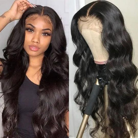 Sunber 13 By 4 Transparent Lace Front Wigs Pre-plucked With Babyhair Body Wave Human Hair Wigs Full Density