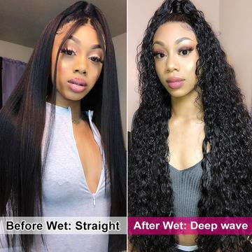 wet and wavy deep wave hair wig