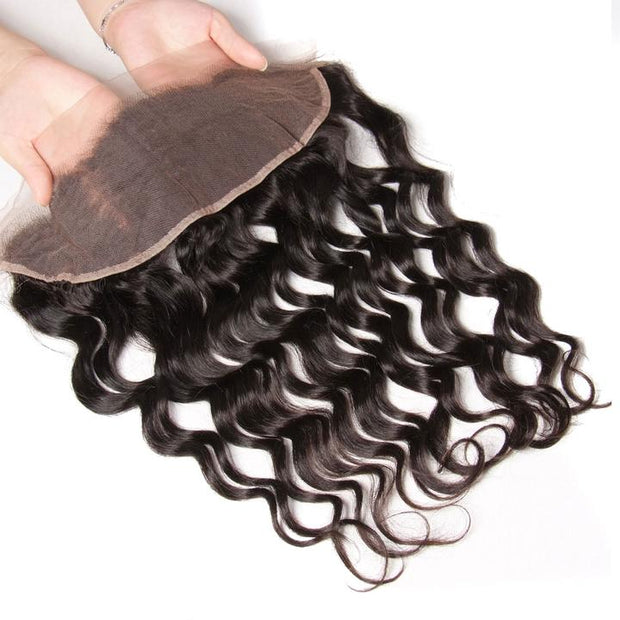 Virgin Natural Wave 13*4 Ear to Ear Lace Frontal 1pcs/lot