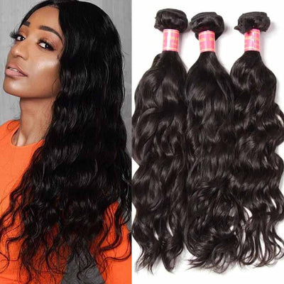 Sunber Hair Malaysian Natural Wave Hair Virgin Hair 3 Bundles/pack, Soft&Thick 7A Virgin Human Hair