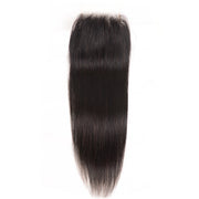 1 Bundle 4*4 Transparent Free Part Lace Closure Straight Hair