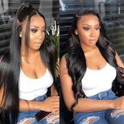 Sunber Straight Hair 13x4 HD Lace Front Wigs With Baby hair Tangle-Free Human Hair Wigs 180% Density