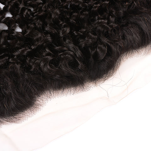 Curly Hair Transparent 13*4 Ear to Ear Lace Frontal, Peruvian/Malaysian/Brazilian/Indian Hair