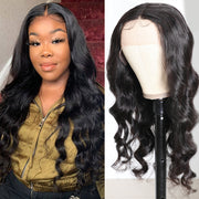 Sunber Body Wave Lace Front Wig 13x5 Deep Lace T Part Wig Pre-plucked Natural Hairline Hand-Tied Human Hair Wigs 150% Density