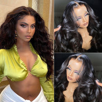 Sunber Body Wave 13x4 HD Invisible Transparent Lace Front Human Hair Wigs Bleached Knots 150% Density