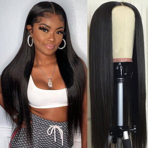 Sunber Hair 13x4 Lace Front Wigs Straight Hair Remy Human Hair Wigs With Pre Plucked Hairline 150% Density