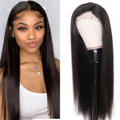 Sunber 9A Grade 13 By 4 / 13 By 6 Transparent Lace Front Human Hair Wigs Straight Hair Wig Preplucked Human Hair Wig 150% Density