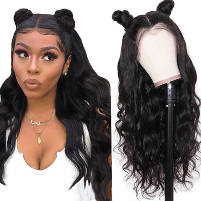 Sunber 9A Grade 13 By 4 / 13 By 6 / 360 Lace Front Human Hair Wigs Body Wave Hair Wig with Preplucked Hairline Human Hair Wig 150% Density