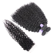 7A Brazilian Body Wave Hair 4 Bundles With 4*4 Lace Closure, 100% Human Virgin Hair Extensions - Sunberhair