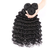 "Sunber Hair Brazilian Deep Wave Remy Human Hair 3 Bundles Deal 12"" to 26"" Inches"