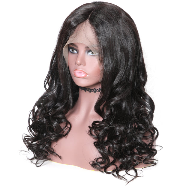 Sunber 360 Lace Human Hair Wig 14-24 Inches Natural Wave Wig 150%/180% Density Hair Wigs