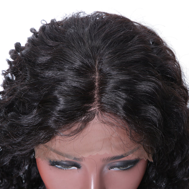 Sunber Hair 9A Grade Lace Front Wig Deep Wave Human Hair Wig 12-24 Inches 100% Human Hair Wig Fast Shipping