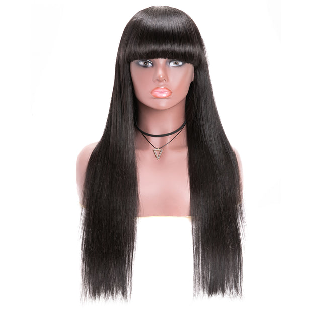 Sunber Instagram Flash Sale Machine Made Human Hair Wigs 12inch Free Shipping