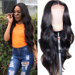 Sunber 9A Grade 13 By 4 Pre-plucked Transparent Lace Front Wigs With Baby Hair Body Wave 180% Density Human Hair Wigs