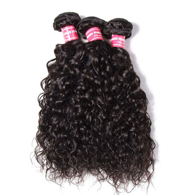Brazilian Water Wave Hair Virgin Hair 3 Bundles/pack, Soft&Thick 7A Virgin Human Hair - Sunberhair