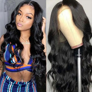 Sunber Body Wave 13x5 T Part Lace Front Wig Hand-Tied Lace Human Hair Wigs 150% Density IG Flash Sale