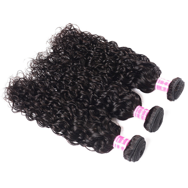 3 Bundles New Loose Water Wave Hair , Double Weft Human Hair Weave On Sale