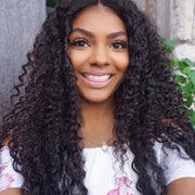 Brazilian Curly Hair Lace Frontal with 3 Bundles, 100% Virgin Human Hair Extensions Wefts - Sunberhair