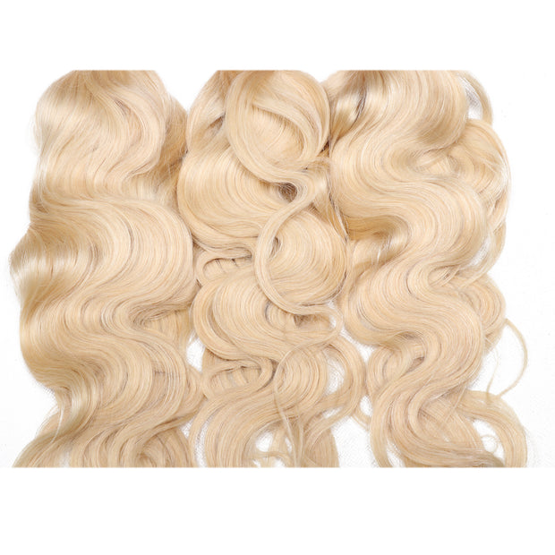 Sunber Hair Blonde 613 Hair Weave 3 Bundles Body Wave Virgin Human Hair Weft