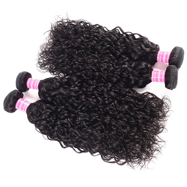 Sunber Hair 4 Bundles New Loose Water Wave Hair 100% Human Virgin Hair Weave