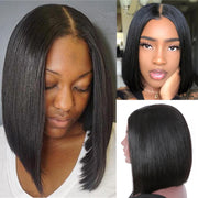 Sunber Quick and Easy 2x4 U Part Human Hair Wigs Short BOB Affordable Human Hair Wigs For Women
