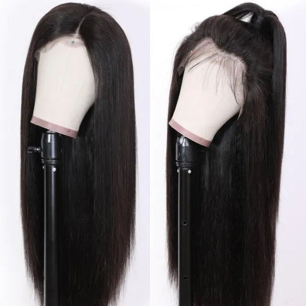 Flash Sale For 13*4 Lace Front Wigs Straight Remy Series Human Hair Wigs 150% Density Low to $99