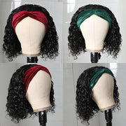Sunber Headband Bob Wigs Water Wave Glueless Human Hair Wigs 150% Density Easy Wear & Go Wigs