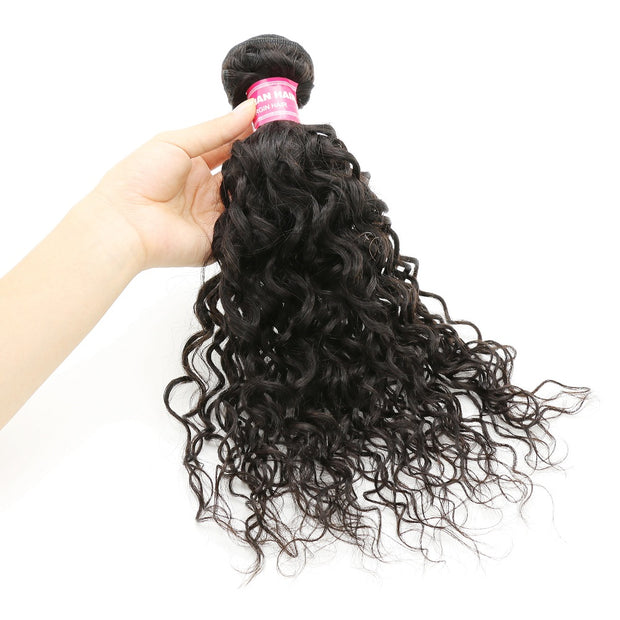 1 Bundle Virgin Water Wave Bundles, Peruvian/Malaysian/Brazilian Virgin Hair Weaves - Sunberhair