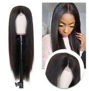 Sunber 4x4 Lace Closure Front Wigs Straight Hair Wig With Pre Plucked Hairline 150% Density Remy Human Hair Wig Fast Wig Shipment