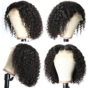 Sunber Full Lace Wig Short Bob Curly Human Hair Wig Pre Plucked Undetectable Realistic Hairline Lace Front Wig