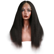 Lace frontal human Kinky Straight hair wig 8-24inch, 100% Remy human hair,130% density - Sunberhair