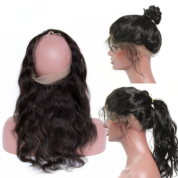 Sunber Virgin Body Wave 360 Full Lace Frontal Closure Unprocessed Human Hair Frontal