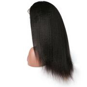 Sunber Half 360 Lace Wig Kinky Straight 10-24 Inches, 100% Human Hair 150%/180% Density