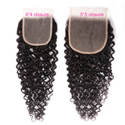 Sunber Hair Curly 5X5 Transparent Lace Closure Hair Extension 10-18 inch 100% Human Hair Closure