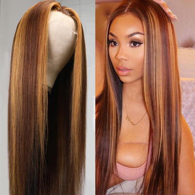 "1 Bundle Ombre  Body Wave Hair #T1b/4/27 Ombre Brown Virgin Hair, 16""-26"""