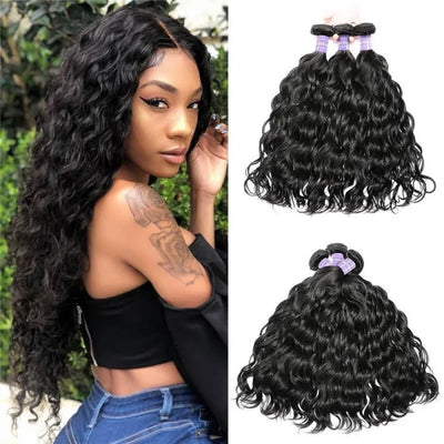 Sunber Hair Indian Natural Wave Hair Weaves Affordable Remy Human Hair Weaves 3 Bundles Free Shipping