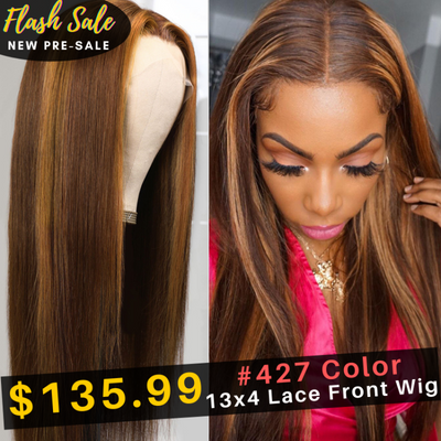 Flash Sale for Mixed Highlight Brown Color 13 By 4 Lace Frontal Wigs Pre-Sale Low To $135.99