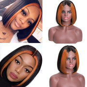 Sunber 13*4 Highlight Lace Front Human Hair Wigs TL1B30 Omber Straight Lace Wig 150% Density